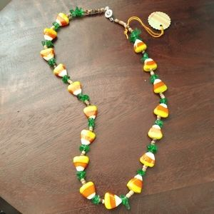 Jewelry - NWT Cute candy corn necklace